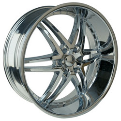 U2 U2-95S-B Chrome 22X10 6-139.7 Wheel
