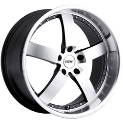 TSW VAIRANO Gunmetal Mirror Cut Face/Lip 17X8 5-120 Wheel