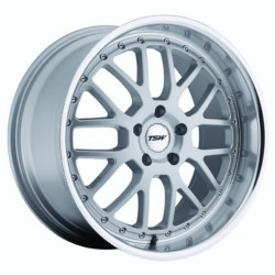 TSW VALENCIA Silver W/Mirror Lip 19X10 5-112 Wheel