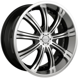 Veloche VAPOR Black W/ Machined Face 20X9 5-108 Wheel
