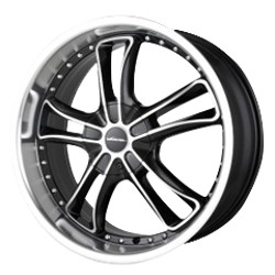 Veloche VENTATA Black/Machined 22X9 5-120 Wheel