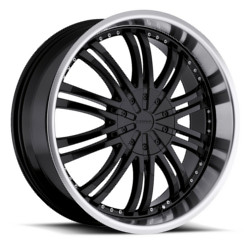 Strada VENTI Black W/ Machined Lip 24X10 5-120 Wheel