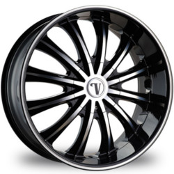 Velocity VW15 Black Machined Face W/ Machined Lined Lip 22X10 5-115 Wheel