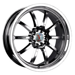 Velocity VW177 Black 17X8 4-100 Wheel