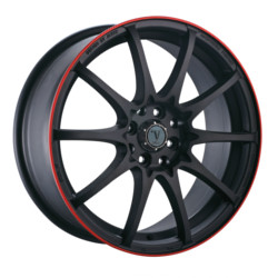 Velocity VW211 Black W/ Red Line 15X7 4-100 Wheel