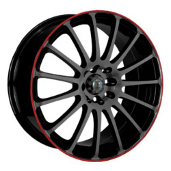 Velocity VW257 Black W/ Red Lip 17X8 4-114.3 Wheel