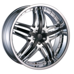 Velocity VW810A Chrome W/ Black Inserts 18X8 5-114.3 Wheel