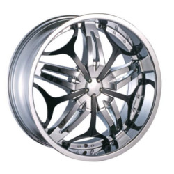 Velocity VW815 Chrome W/ Black Inserts 22X10 6-139.7 Wheel