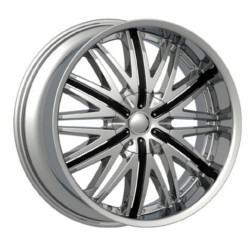 Velocity VW830 Chrome W/ Black Inserts 22X10 5-120 Wheel