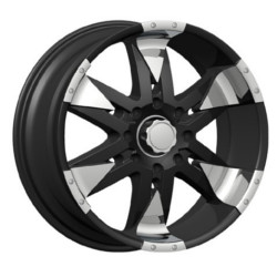 Velocity VW840 Black W/ Chrome Inserts 18X9 6-139.7 Wheel