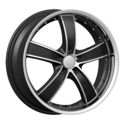 Velocity VW855-A Black Machined Face & Lip 18X8 5-108 Wheel