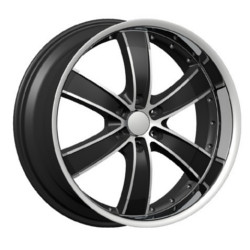 Velocity VW855-B Black Machined Face & Lip 22X10 6-135 Wheel