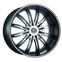 Velocity VW865B Black Machined Face & Lip 20X9 6-139.7 Wheel