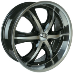 Velocity VW900B Black Machined Face & Lip 20X9 6-139.7 Wheel