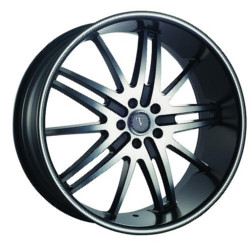 Velocity VW910 Black Machined Face W/ Machine Line 22X10 5-115 Wheel