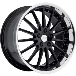 Coventry WHITLEY Gloss Black W/Mirror Cut Lip 18X10 5-120.7 Wheel