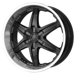 DIP WICKED Black/Machined 22X10 6-139.7 Wheel