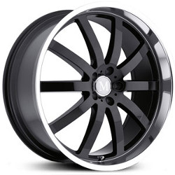 Mandrus WILHELM Gloss Black W/Mirror Cut Lip 22X9 5-112 Wheel