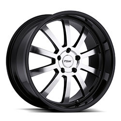 TSW WILLOW Gloss Black W/Mirror Cut Face 19X8 5-112 Wheel