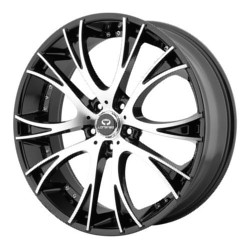 Lorenzo WL034 Gloss Black With Machined Face 20X9 5-120 Wheel