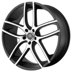 Lorenzo WL035 Gloss Black With Machined Face 22X9 5-120 Wheel