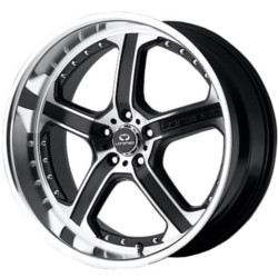 Lorenzo WL21 Matte Black Machined 18X8 5-120 Wheel