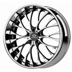Lorenzo WL27 Chrome With Gloss Black Windows 20X10 5-120 Wheel