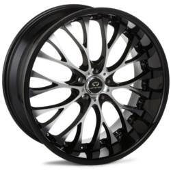 Lorenzo WL27 Gloss Black With Machined Face 20X9 5-112 Wheel
