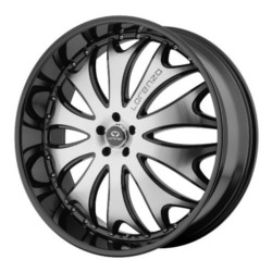 Lorenzo WL29 Gloss Black Machined 20X10 5-112 Wheel