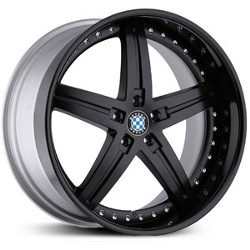 Beyern WOLFF Matte Black W/Gloss Black Lip 22X11 5-120 Wheel