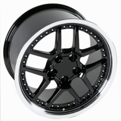 Wheel Replicas ZO6 M/S Gloss Black/Machined lip 17X10 5-120.7 Wheel