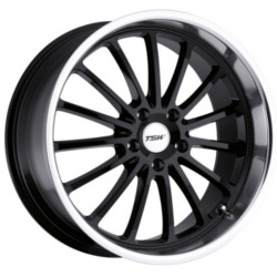 TSW ZOLDER Gloss Black W/Mirror Cut Lip 17X8 5-114.3 Wheel